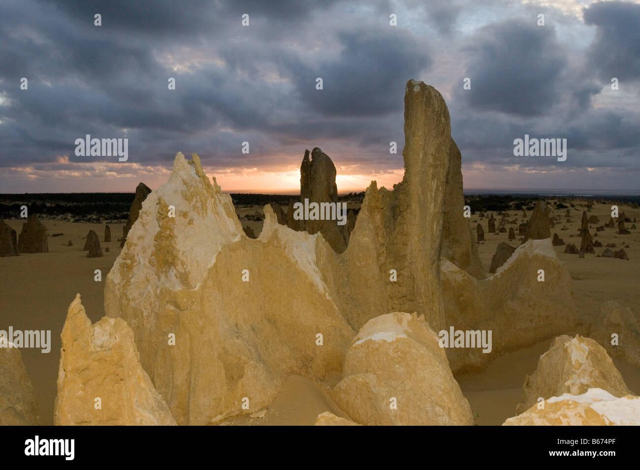 The pinnacles nambung national park perth - Stock Image