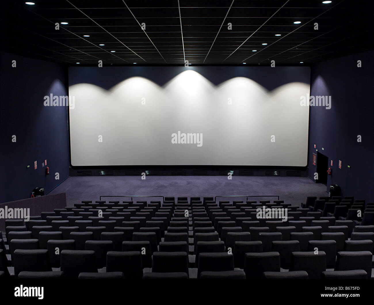 Cinema screen - Stock Image