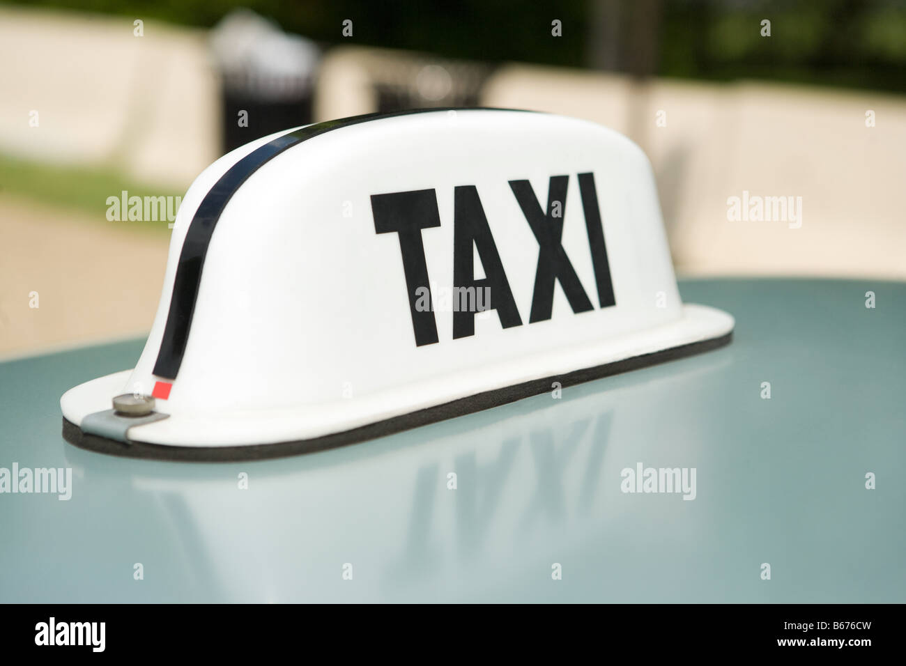 Taxi sign - Stock Image