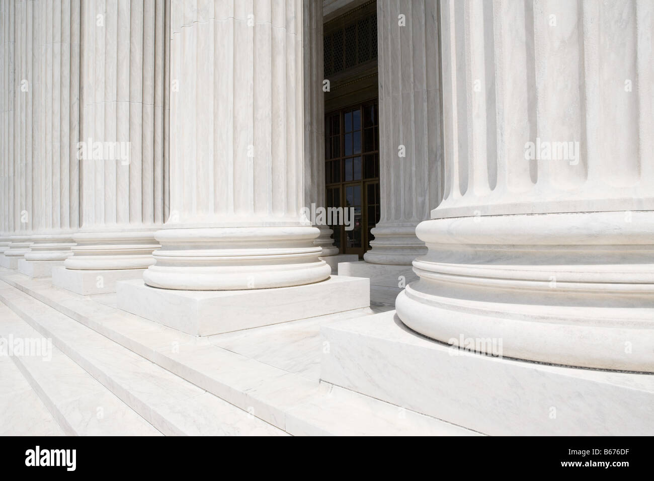 Columns of US supreme court - Stock Image