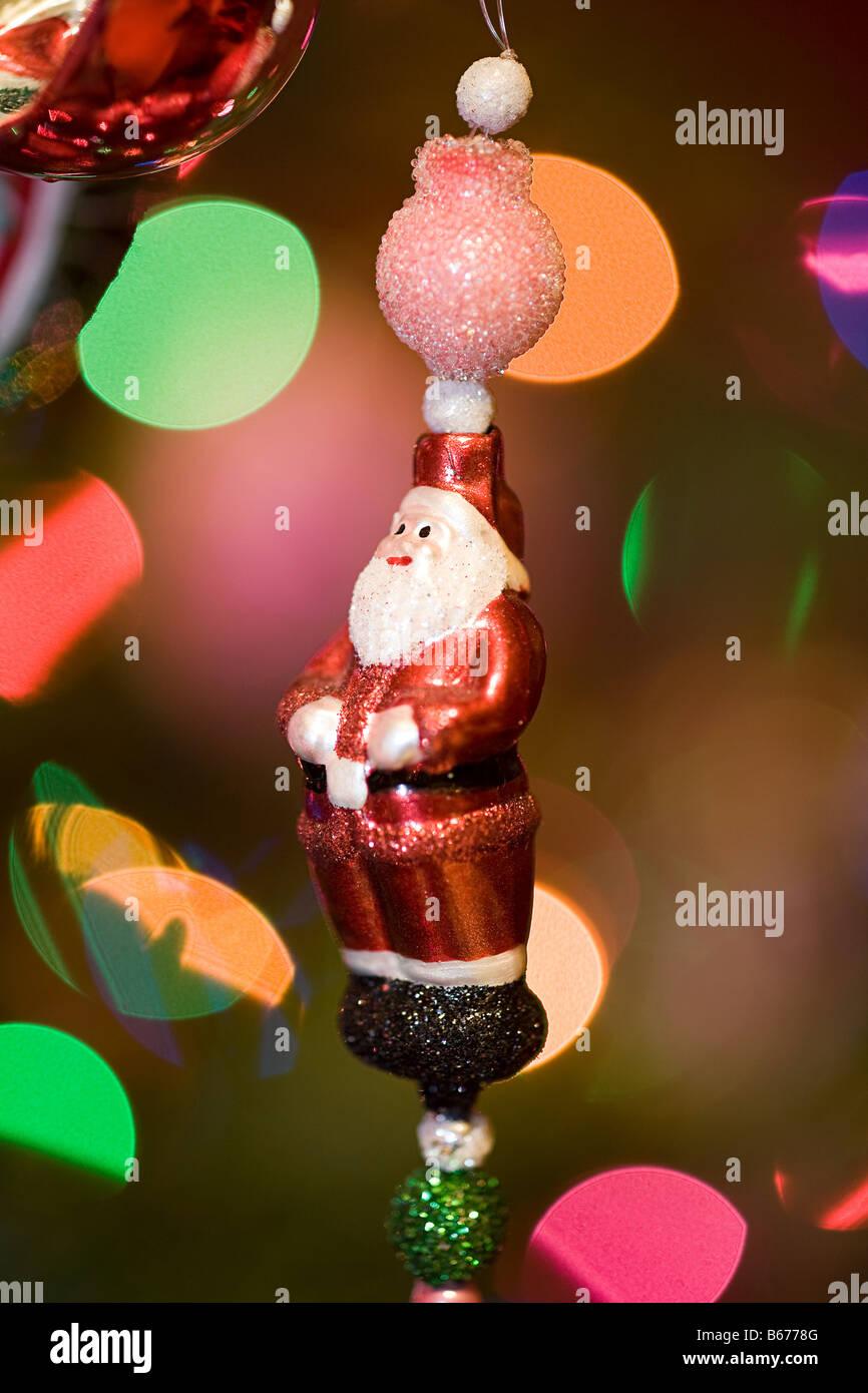 Santa claus decoration - Stock Image