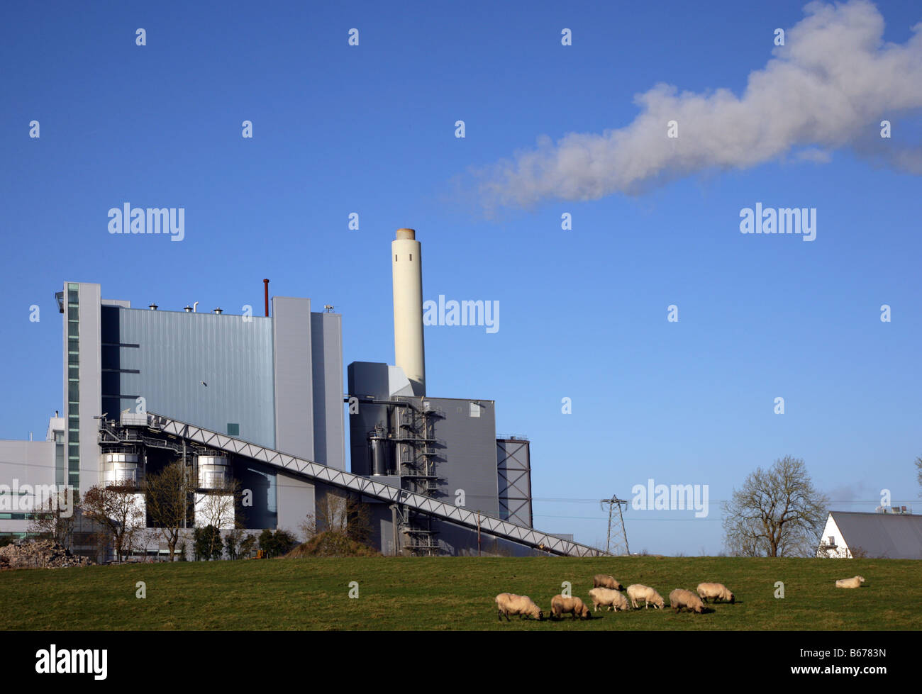 Lough Ree Power Station Lough Ree County Roscommon Ireland - Stock Image