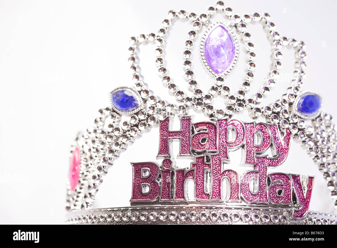 Happy birthday crown - Stock Image