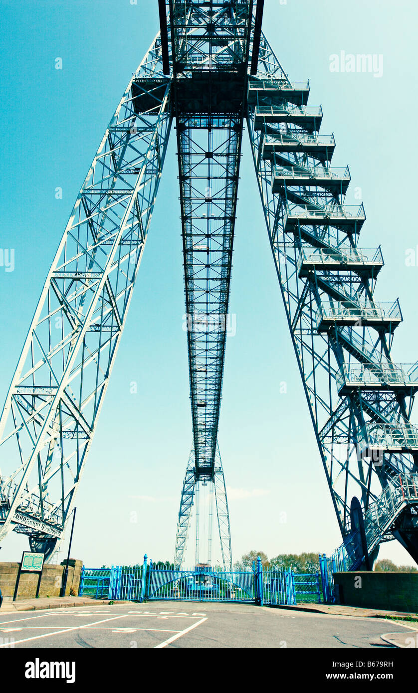 Transporter bridge in Newport, South Wales - Stock Image