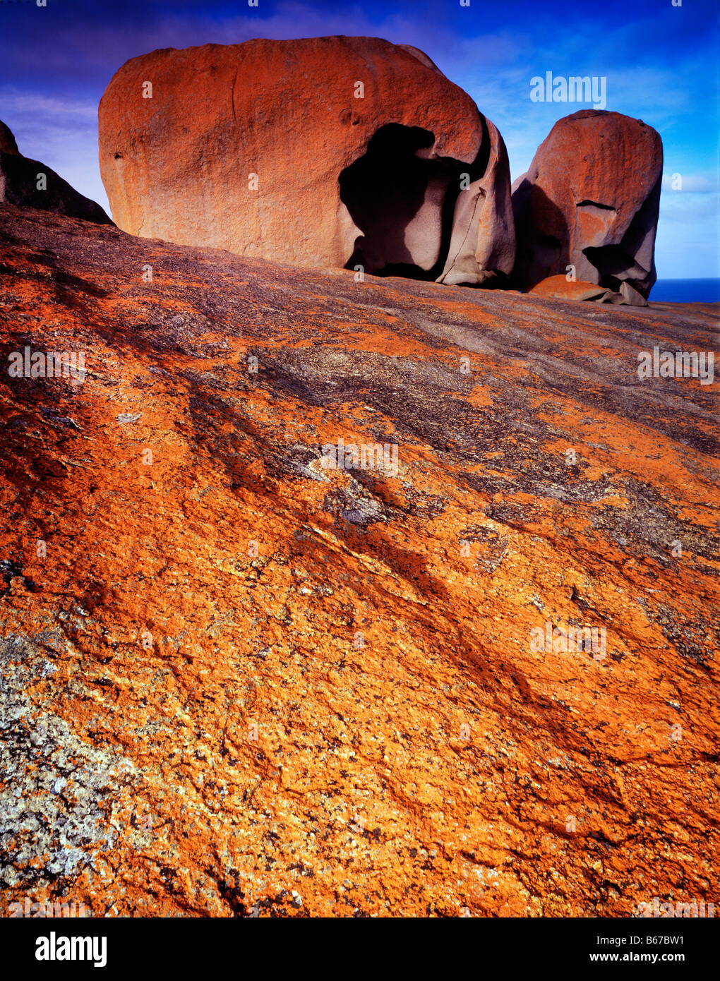 The Remarkable Rocks Flinders Chase National Park Kangaroo Island South Australia Southern Ocean 45 V IC - Stock Image