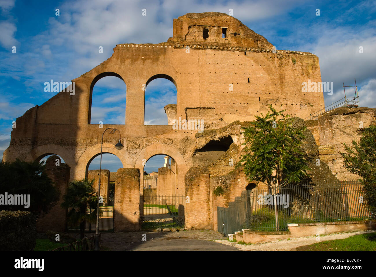 Ruins at Foro Romano the Roman Forum in Rome Italy Europe - Stock Image