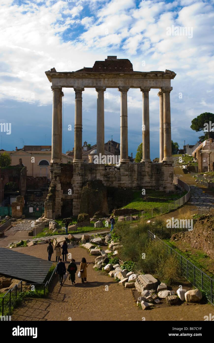 Foro Romano the Roman forum in Rome Italy Europe - Stock Image
