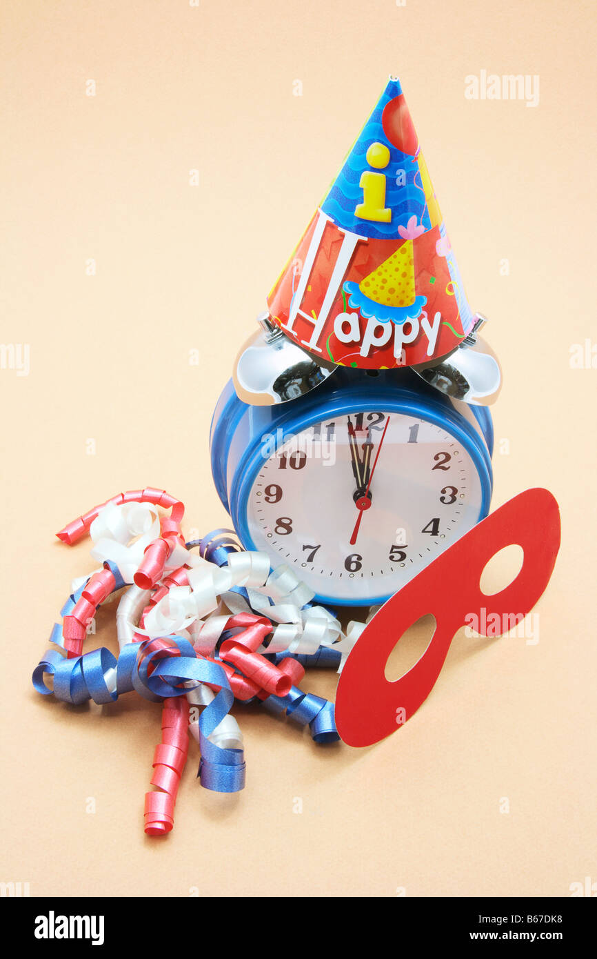 Alarm Clock and Party Favors - Stock Image
