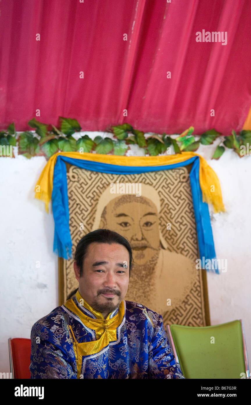 Genghis Khan Portrait Stock Photos & Genghis Khan Portrait Stock