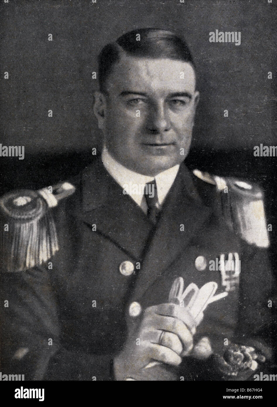 Karl Spindler German sea captain during First World War - Stock Image