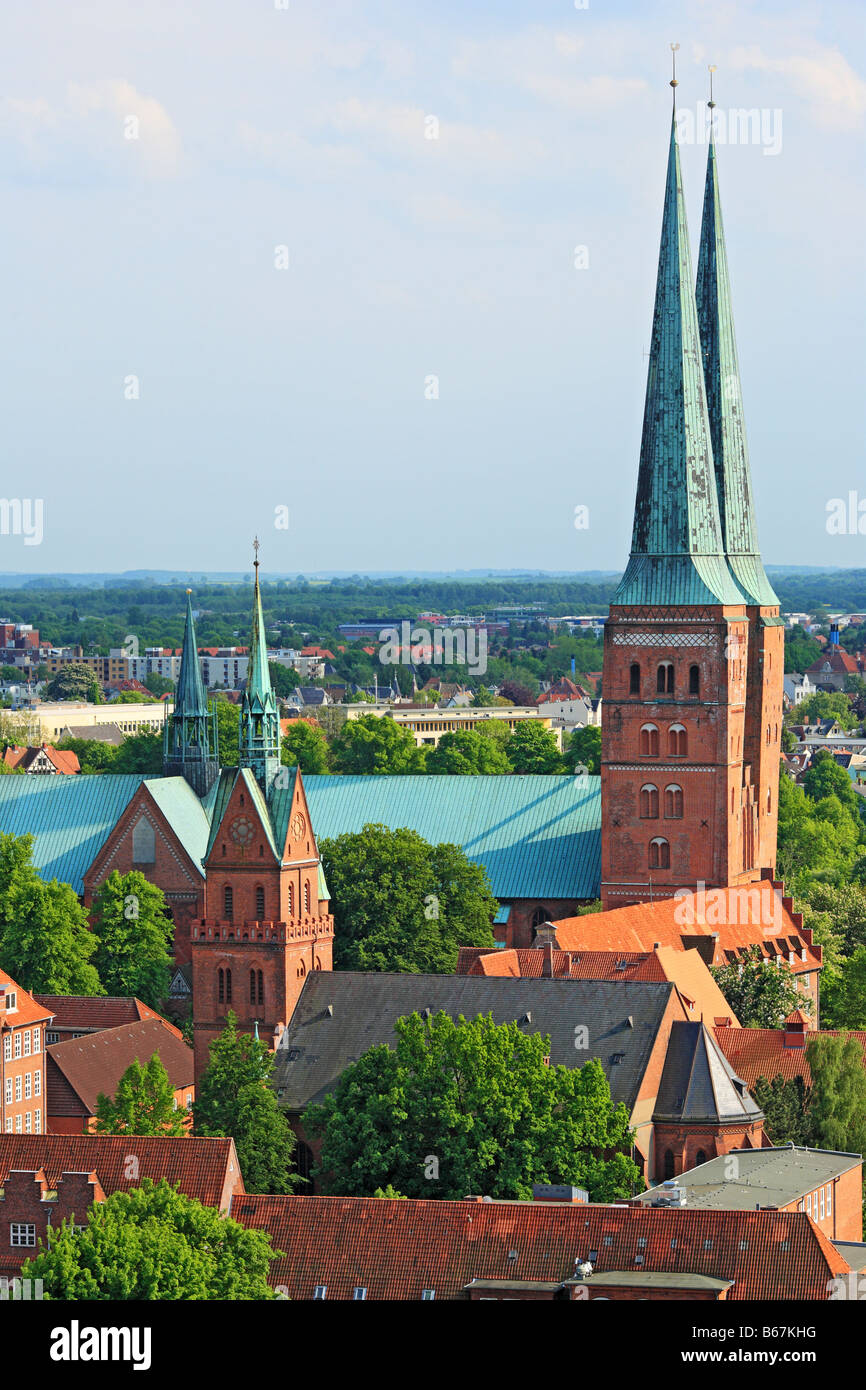 Lubeck cathedral, Schleswig Holstein, Germany - Stock Image