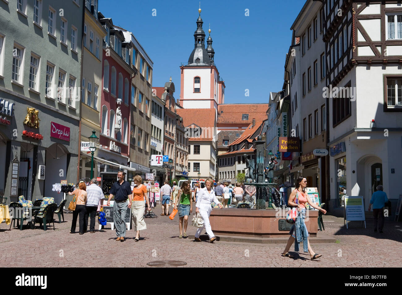 Pedestrian Mall In Downtown Fulda Fulda Hesse Germany Stock Photo Alamy