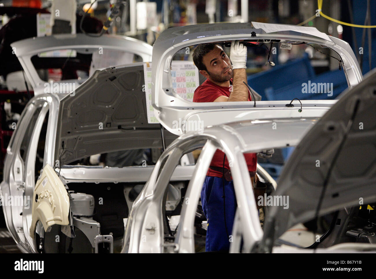 Ford 'Fusion', Production on the assembly line, Cologne, Germany - Stock Image