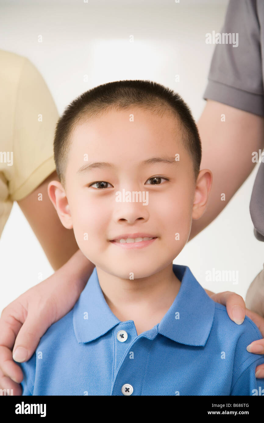 Portrait of a boy smiling - Stock Image