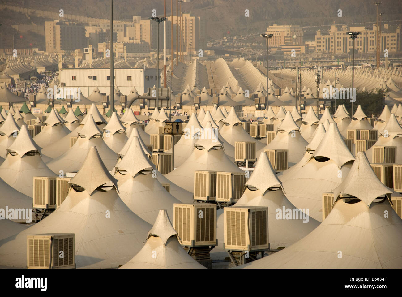 A Limited Overview Of Some Tents For Hajj Pilgrims In Mina Makkah Stock Photo Alamy