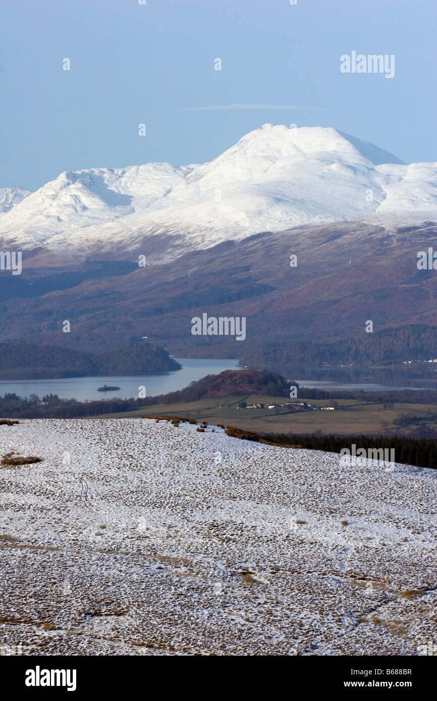 Ben Lomond seen from Duncolm Hill - Stock Image