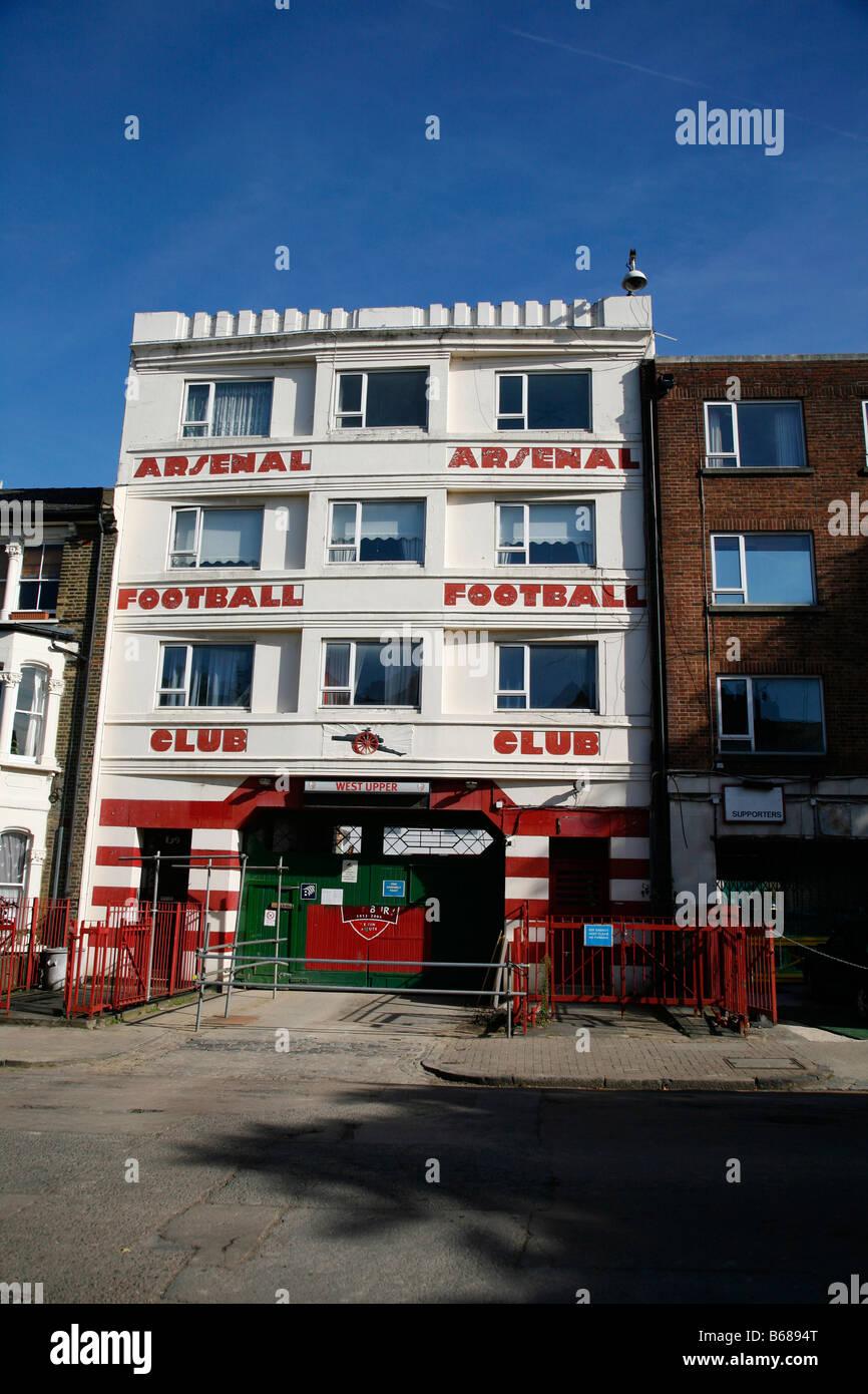 Entrance to Arsenal's old Highbury football ground in Highbury, London - Stock Image