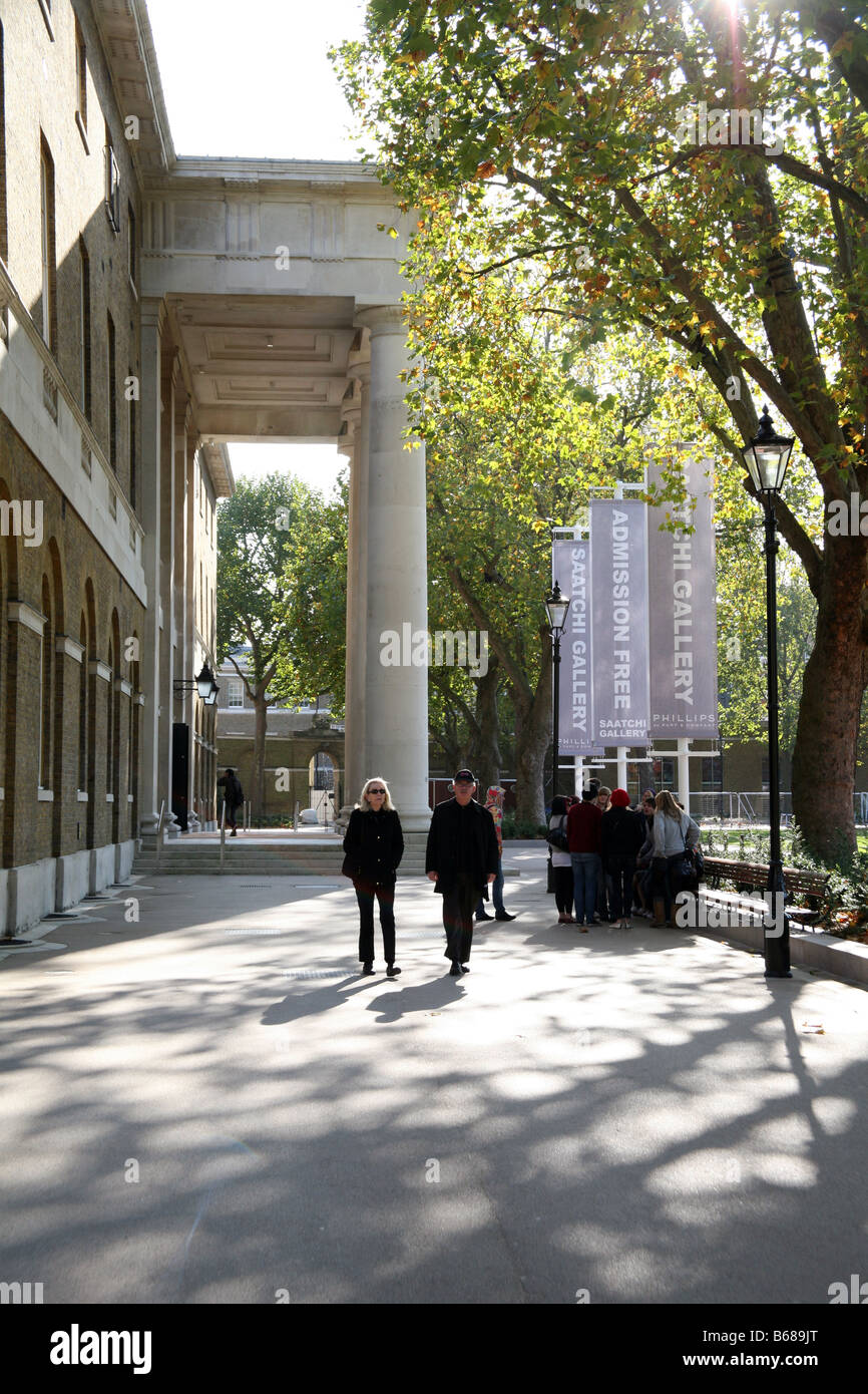 New Saatchi Gallery in former Duke of Yorks HQ building, Chelsea, London - Stock Image