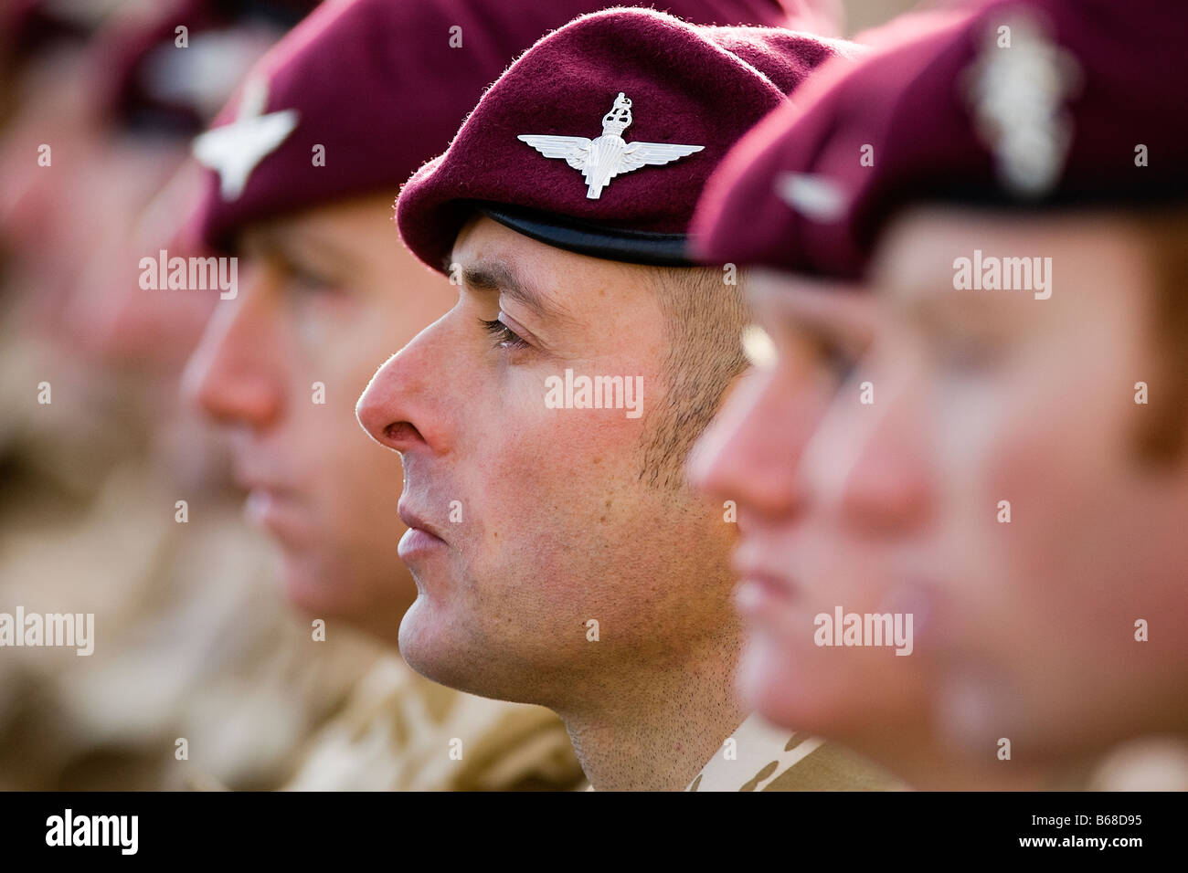 Members of the British Army's elite Parachute Regiment on