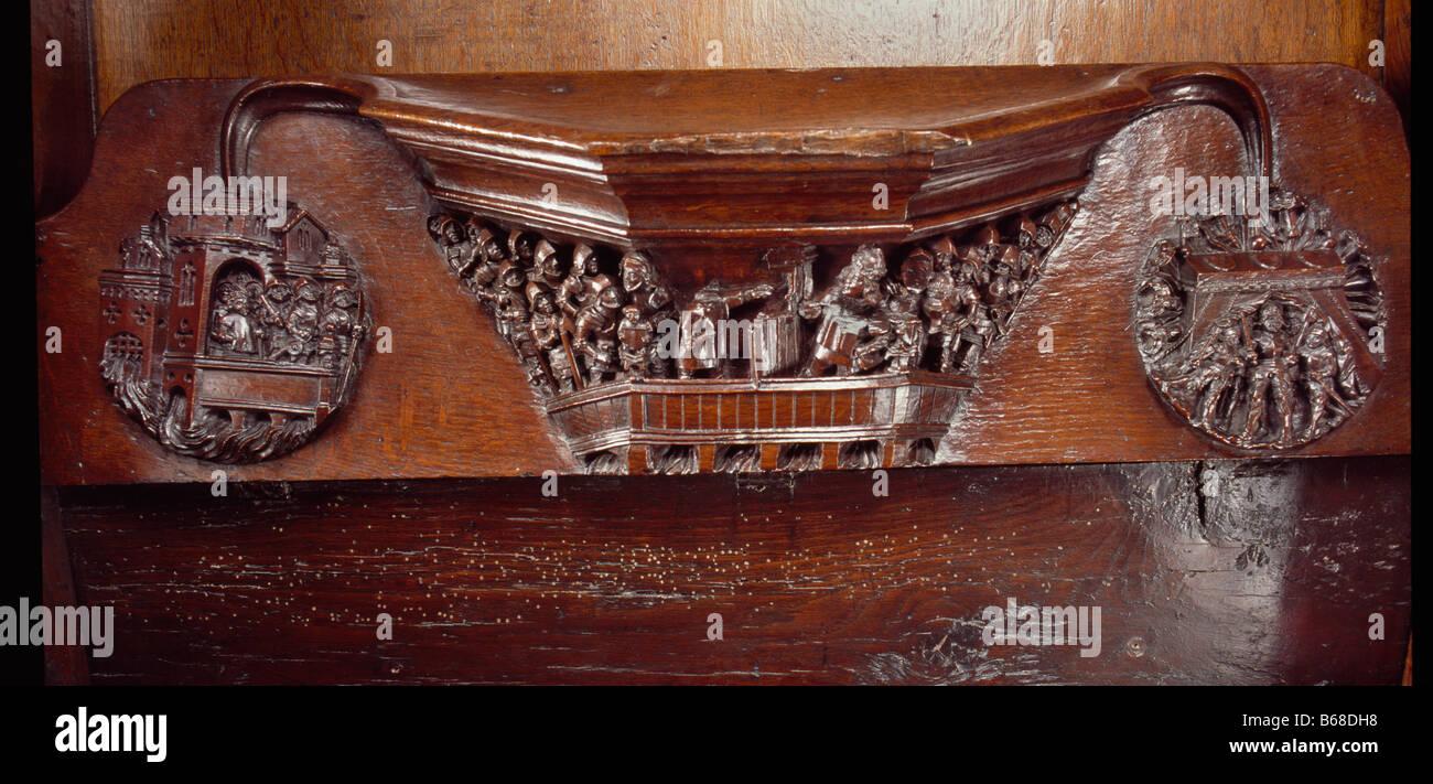 Edward Iv Misericord St George'S Windsor - Stock Image