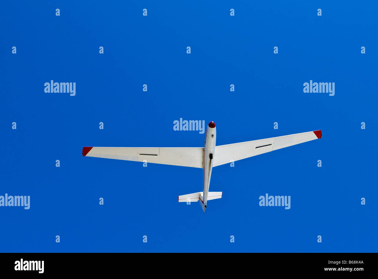 Blanik L-23 glider in the air, Greater Houston Soaring Association, Wallis, Texas. - Stock Image