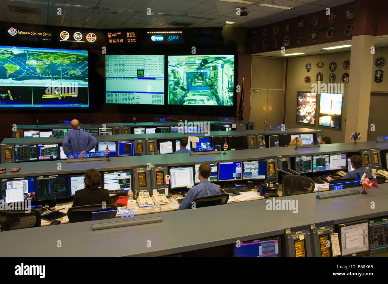 NASA Spacelab Mission Control Center, Johnson Space Center, Houston, Texas. - Stock Image
