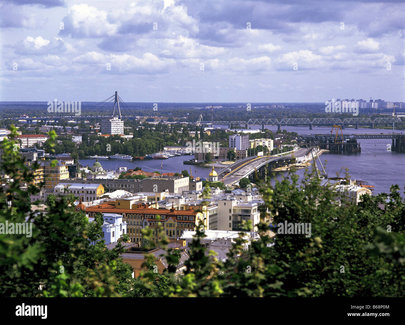 View of Dnieper River and city Kiev, Ukraine - Stock Image