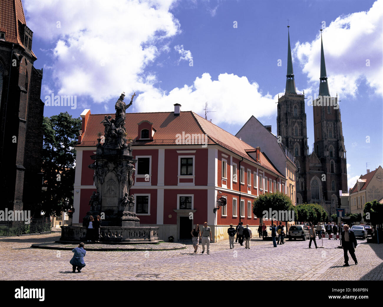 Wroclaw (Breslau)  Cathedral Poland - Stock Image