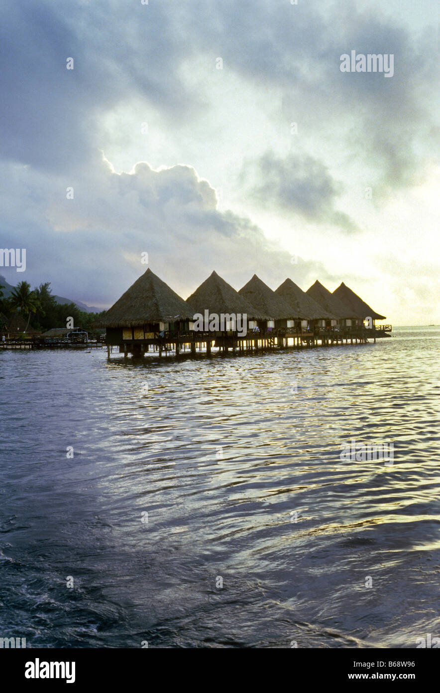 Over Water Huts Are Special Guest Rooms At Hotel In Moorea