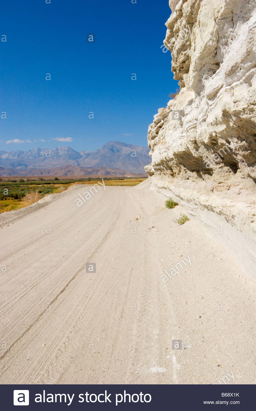 Chalk Bluffs Road Owens Valley California - Stock Image