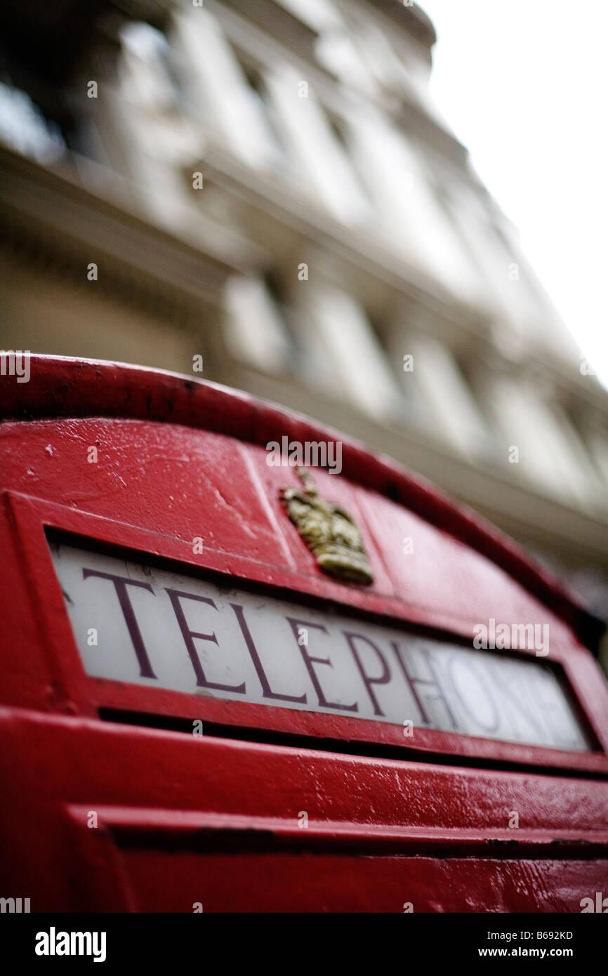 British red telephone box, London - Stock Image