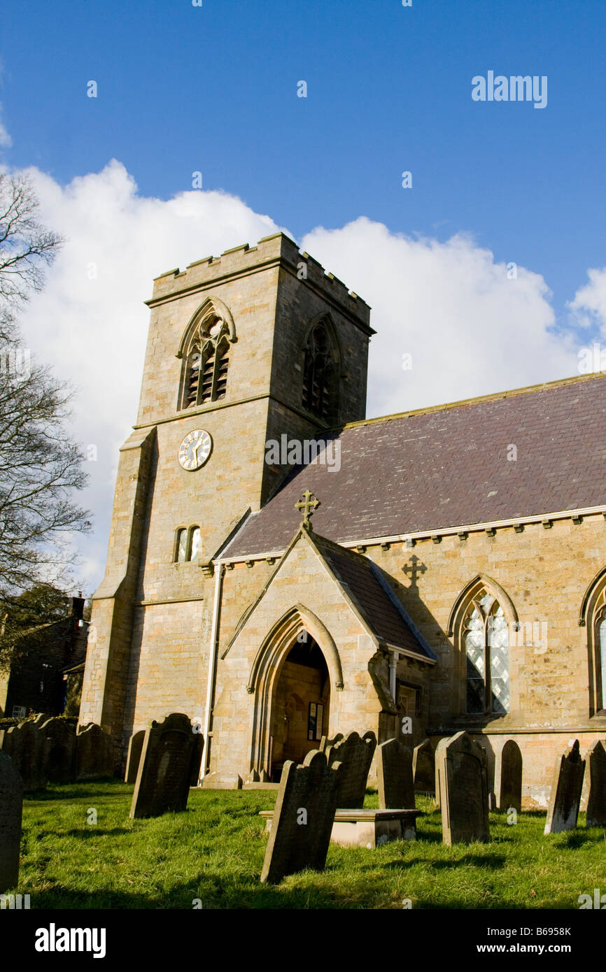 St Chad's Church Middlesmoor UK - Stock Image
