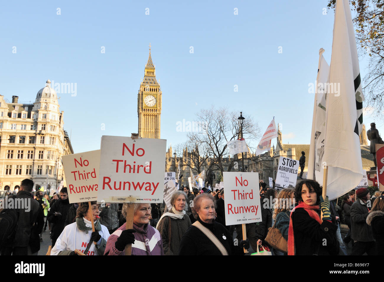 National Climate March, Westminster, London 2008 - Stock Image
