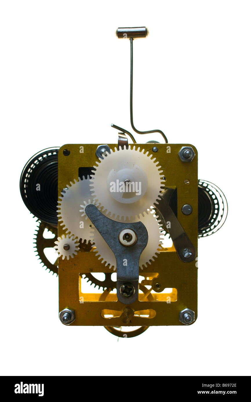 Clock Mechanism Cut Out Stock Images & Pictures - Alamy