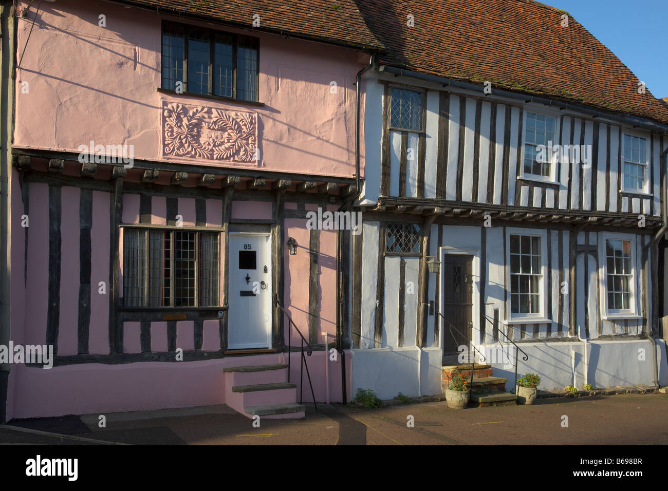 Houses in Lavenham - Stock Image