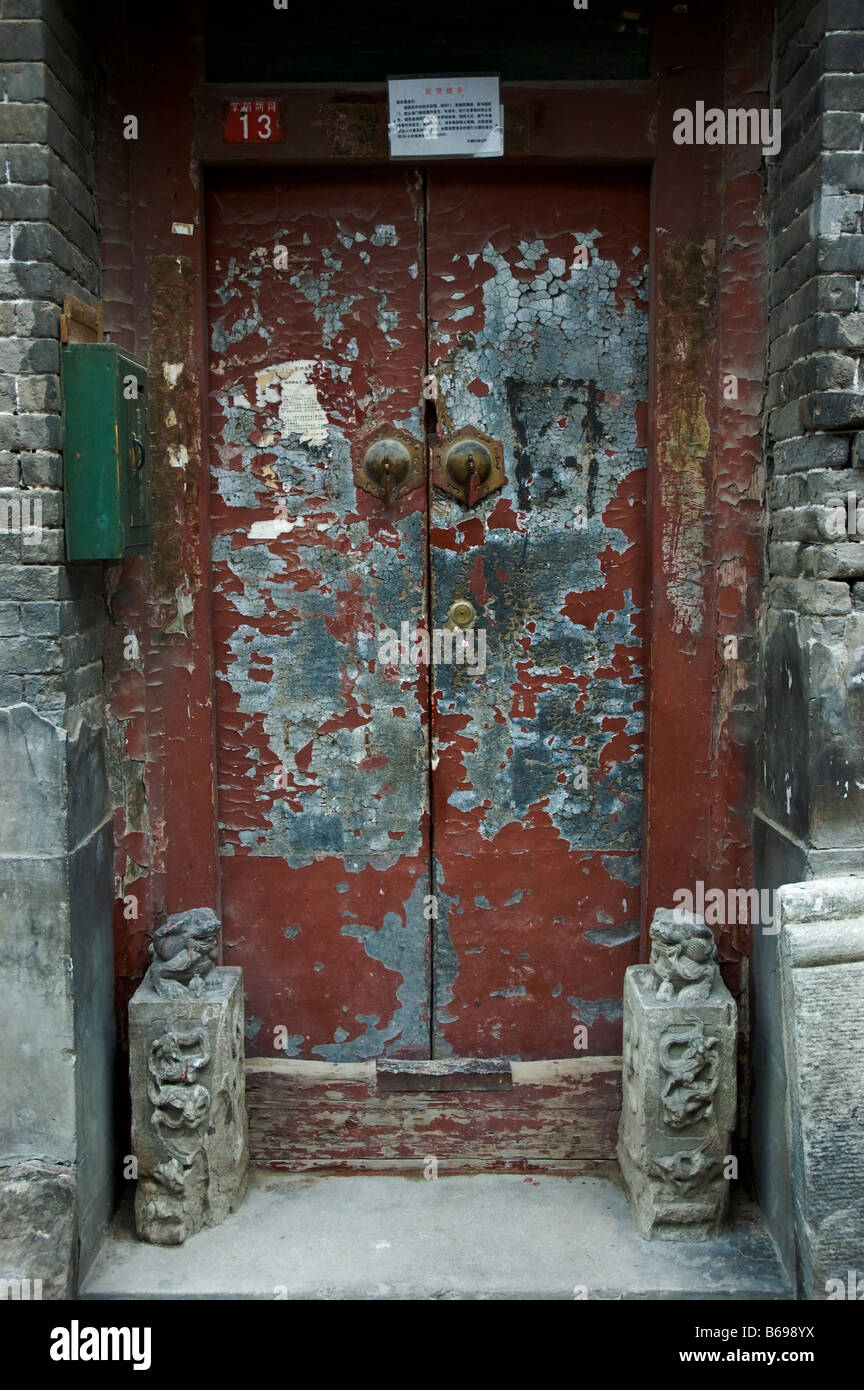 old huttong door - Stock Image