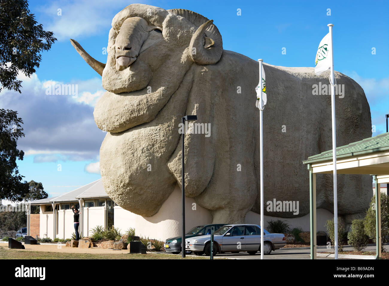 The Big Merino in Goulburn Australia. The worlds biggest Merino statue at 15.2 meters, 97t. - Stock Image