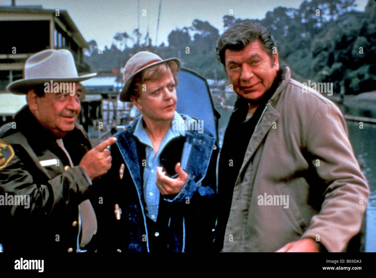 MURDER SHE WROTE UK TV series with Angela Lansbury and Tom Bosley at left - Stock Image
