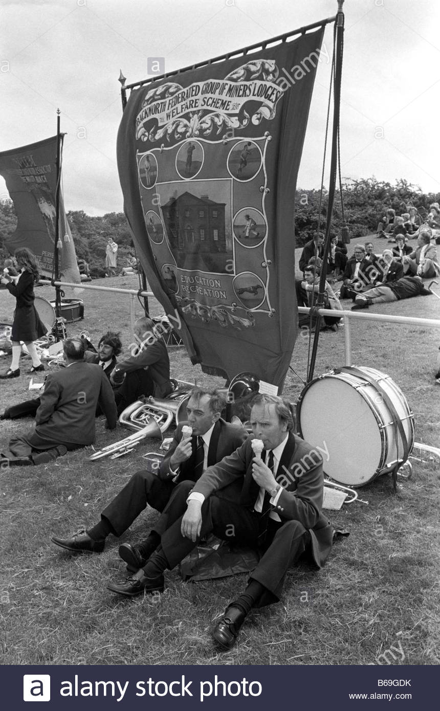 The English at play in the 1970s Part 2 At the Northumberland Miners Gala Stock Photo