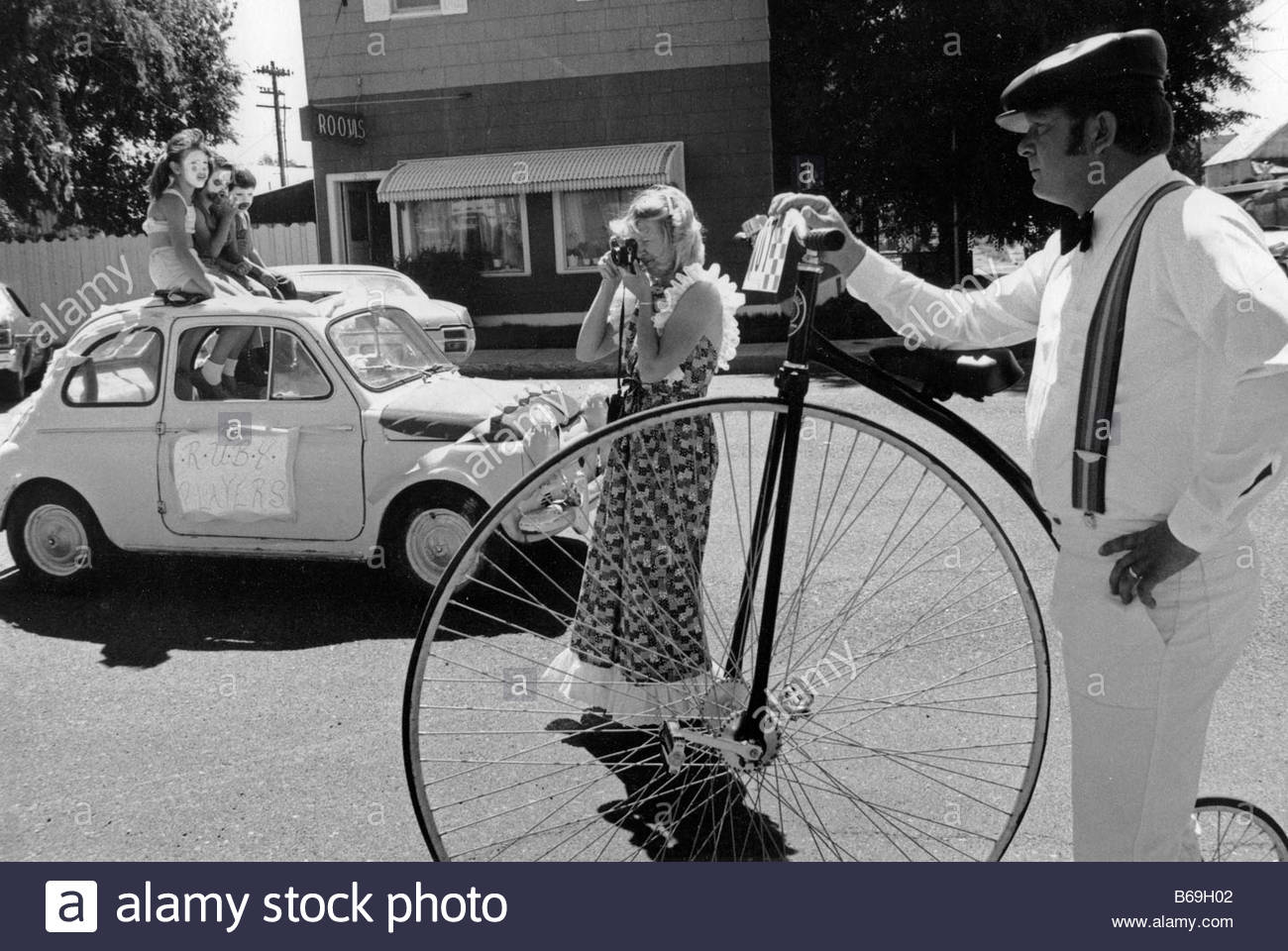 One year on the road in the USA during 1981 Basque Festival in Elko Nevada - Stock Image