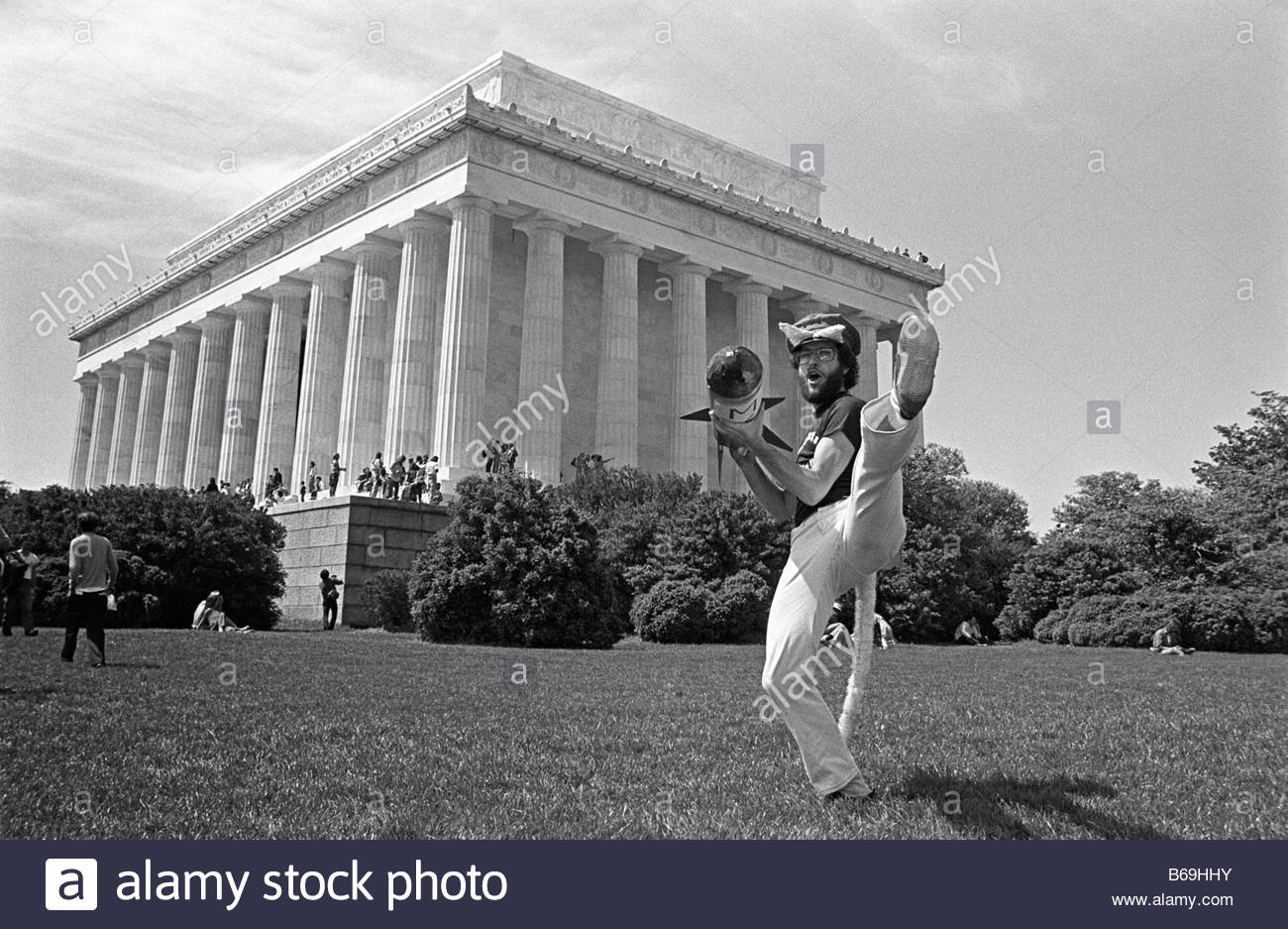 One year on the road in the USA during 1981 Anti nuclear protest in Washington DC - Stock Image