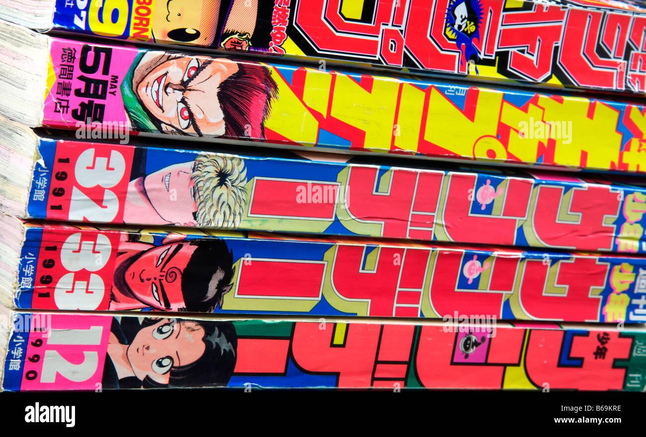 Manga, Japanese comics - Stock Image