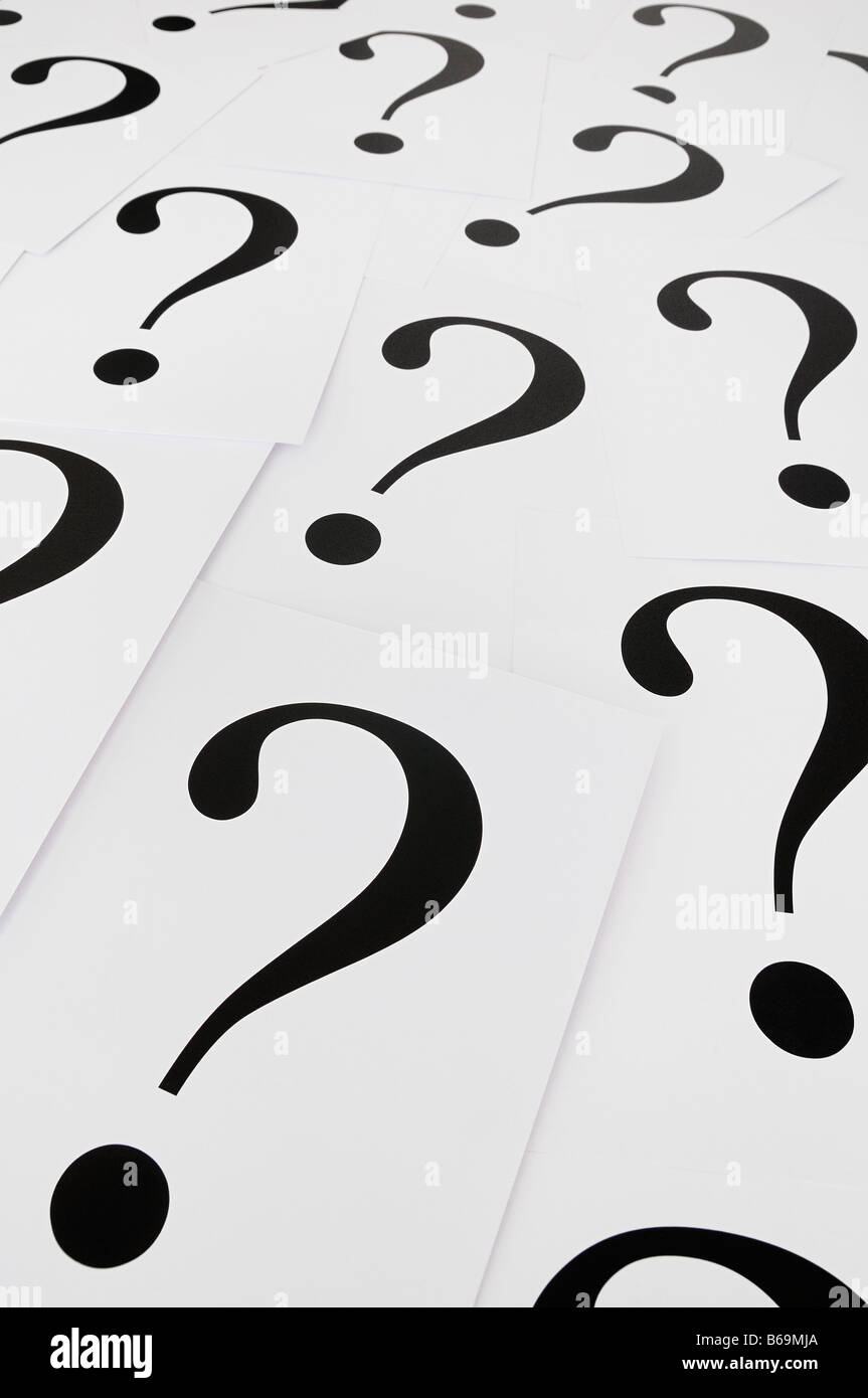 Question Marks - Stock Image