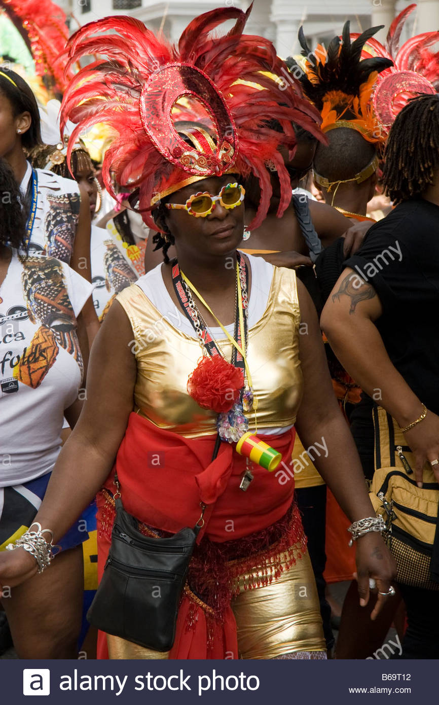 Notting Hill Carnival in London - Stock Image