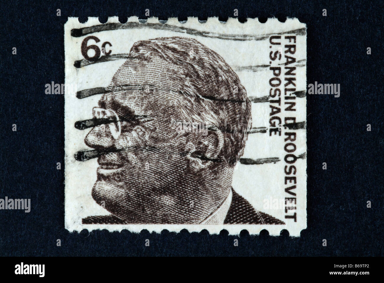 A 6 Cent US Postage Stamp With The Image Of Franklin D Roosevelt