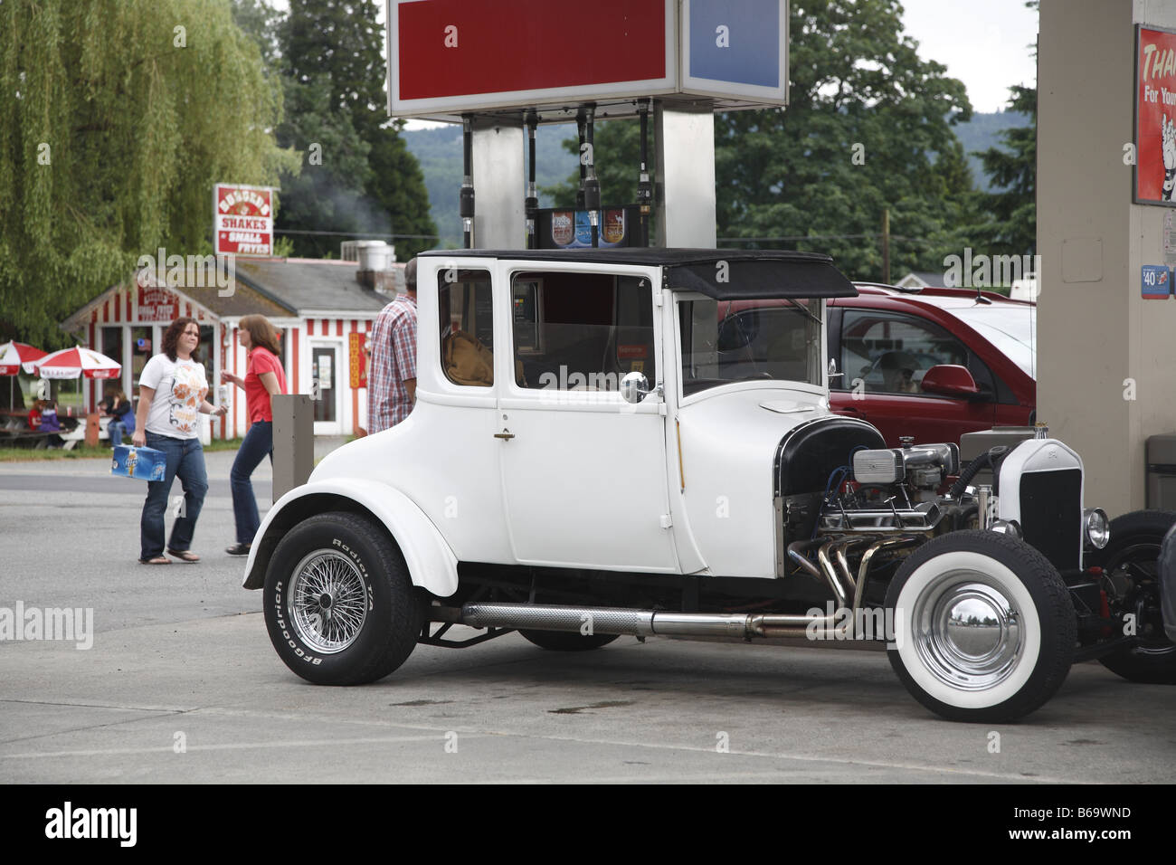 US USA United States Vereinigte Staaten Staat Of Von America Amerika State Washington Fall City Classic Car - Stock Image