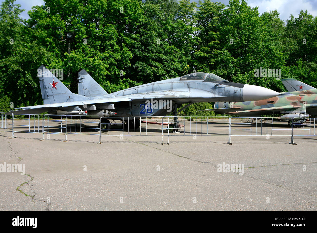 The Sukhoi Su-30 (Flanker-C) at Victory Park in Moscow, Russia - Stock Image