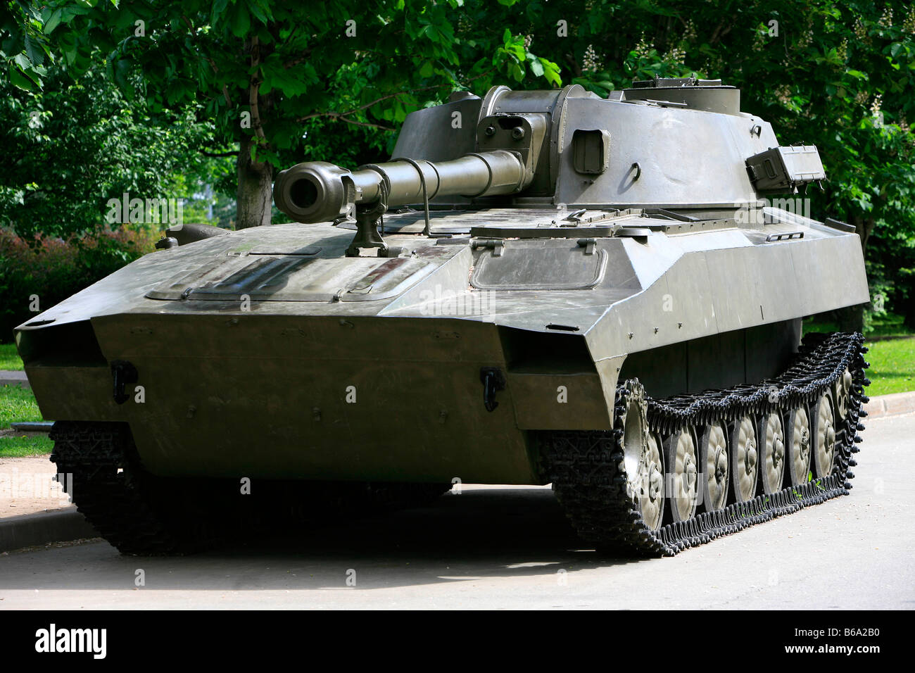World War Ii Soviet Tank At Victory Park In Moscow Russia Stock Photo Alamy