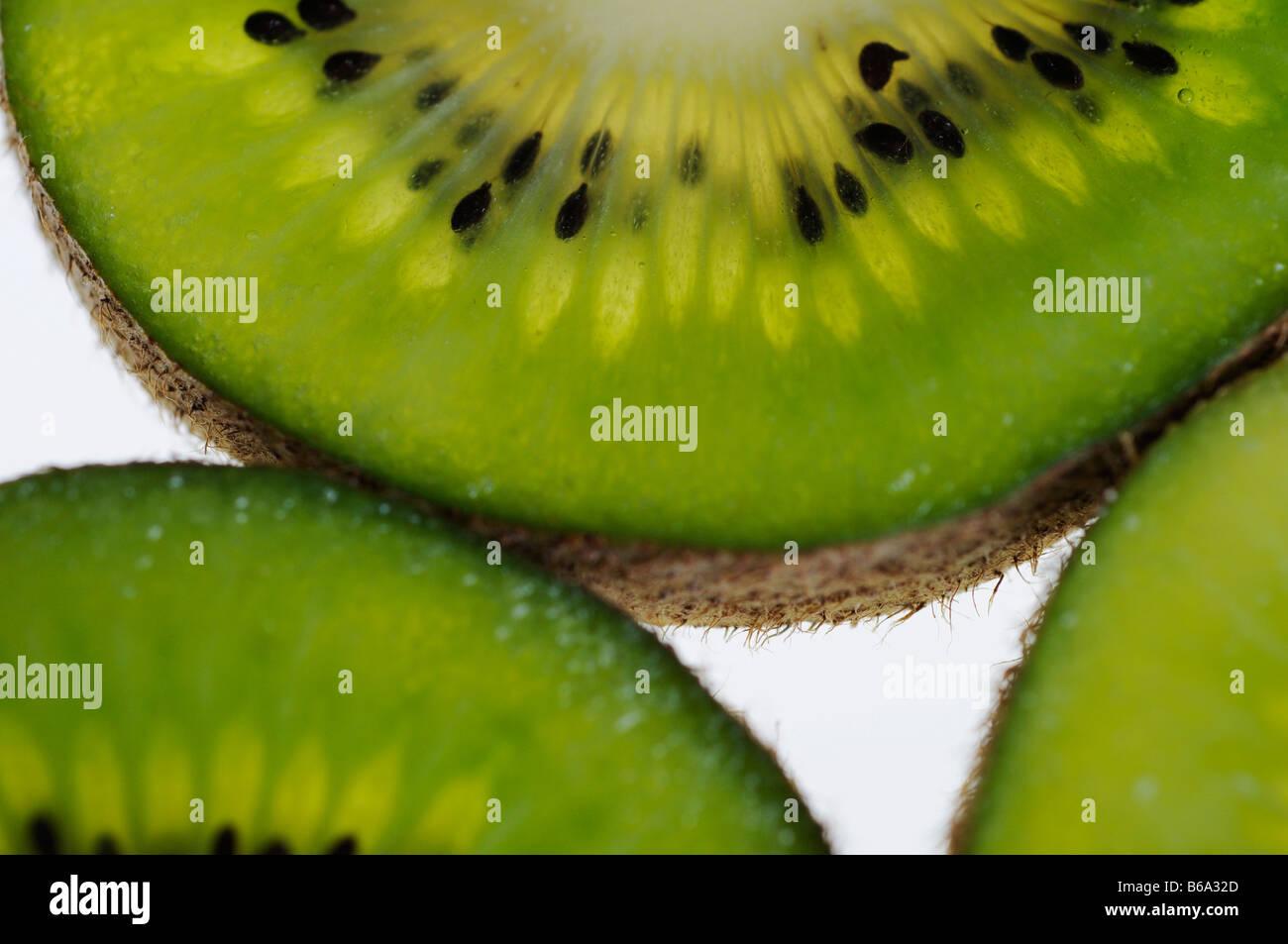 Large hayward kiwi - Stock Image