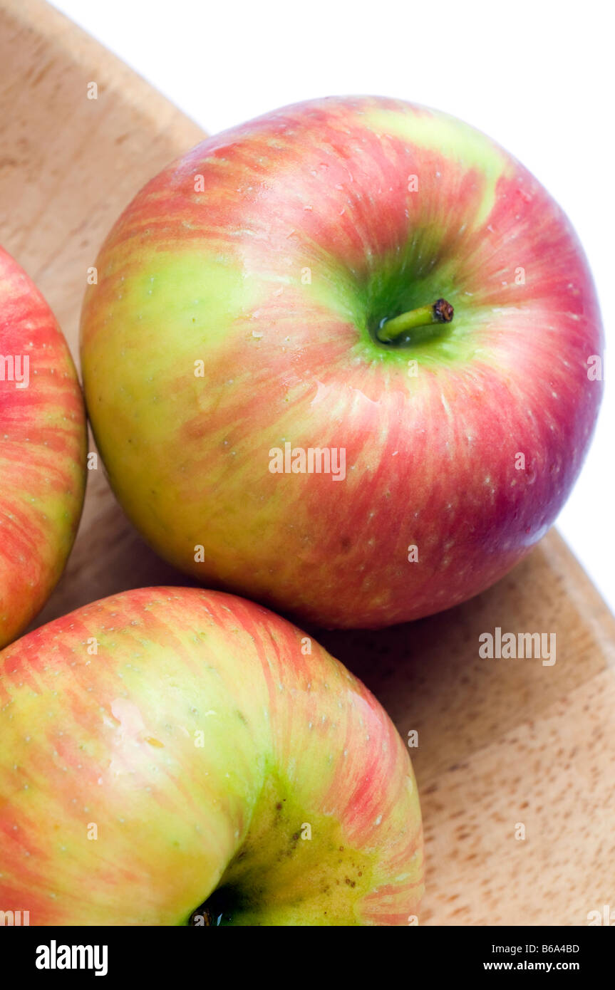 honeycrisp variety of apples crisp juicy and sweet a cross between macoun and honey gold grown in canada - Stock Image